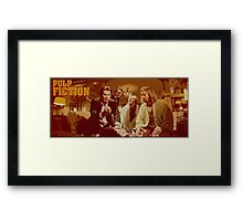 pulp fiction vintage poster Framed Print