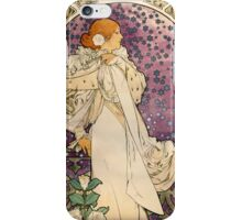 Vintage French Art Nouveau Lady of the Camelias iPhone Case/Skin