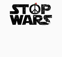 STOP WARS....a message for our UNIVERSE! Women's Fitted V-Neck T-Shirt