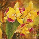 Yellow Orchid Acrylic by Janis Lee Colon
