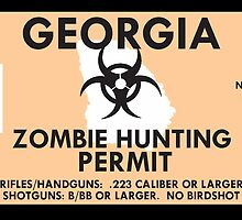 Zombie Hunting Permit - GEORGIA by SMALLBRUSHES