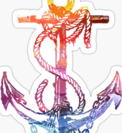 Rainbow Anchor Sticker