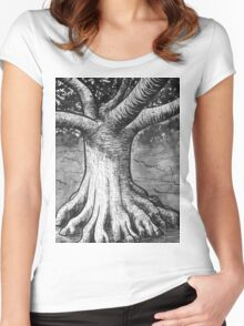 The Living  Bodhi Tree Women's Fitted Scoop T-Shirt
