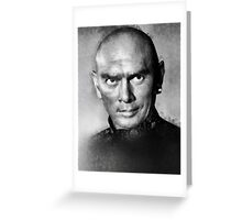 Yul Brynner by John Springfield Greeting Card