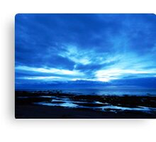 Arm from Above Plays with the Sunset Canvas Print