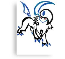 Pokemon Absol - tribal Canvas Print