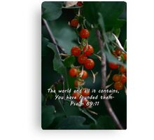 """""""Psalm 89:11"""" by Carter L. Shepard""""  Canvas Print"""