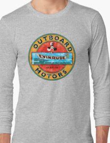 Vintage Evinrude outboard motor. Long Sleeve T-Shirt