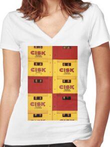 Cisk Women's Fitted V-Neck T-Shirt