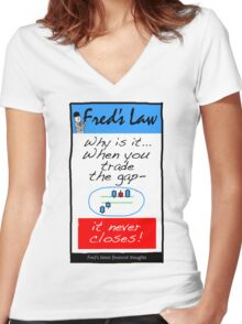 Fred's Law 3 Women's Fitted V-Neck T-Shirt