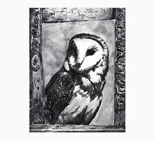 Black and White Barn Owl Unisex T-Shirt