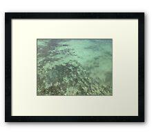 Aqua Ripples Framed Print