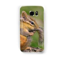 Chipmunk grooming his tail Samsung Galaxy Case/Skin