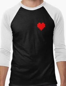 Broken Pixel - Determined Pixel Heart Men's Baseball ¾ T-Shirt