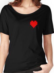Broken Pixel - Determined Pixel Heart Women's Relaxed Fit T-Shirt
