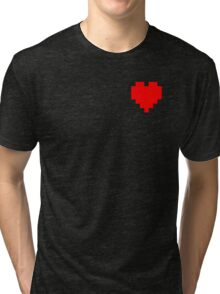 Broken Pixel - Determined Pixel Heart Tri-blend T-Shirt