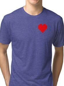 Broken Pixel - Determined Pixel Heart Tri-blend T-Shirt