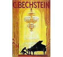 Vintage C. Bechstein German Piano Advertisement Photographic Print