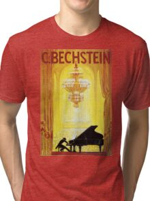 Vintage C. Bechstein German Piano Advertisement Tri-blend T-Shirt