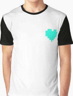 Broken Pixel - Patient Pixel Heart Graphic T-Shirt
