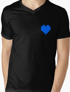 Broken Pixel - Integrity Pixel Heart Mens V-Neck T-Shirt