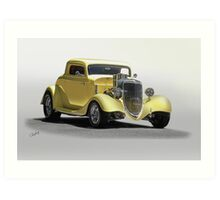 1934 Ford Coupe 'Studio' I Art Print