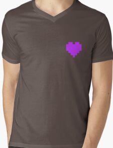 Broken Pixel - Perseverance Pixel Heart Mens V-Neck T-Shirt