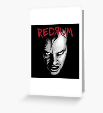 Redrum Greeting Card
