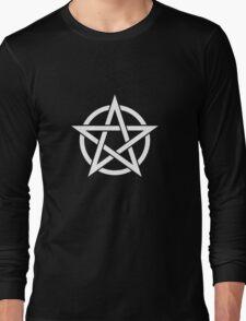 White Pentagram Long Sleeve T-Shirt