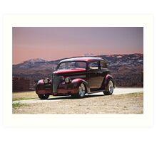 1939 Chevrolet Two-Door Sedan Art Print