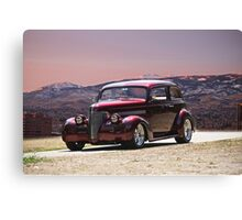 1939 Chevrolet Two-Door Sedan Canvas Print