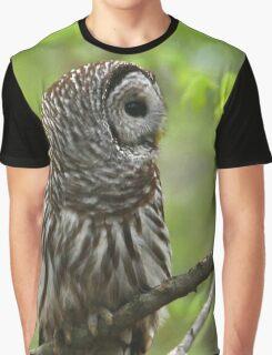 Barred Owl Portrait Graphic T-Shirt