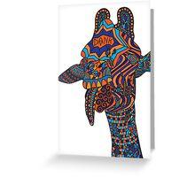 Trippy Giraffe Greeting Card
