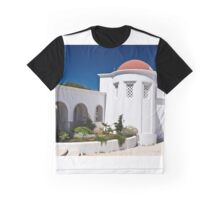 Beautiful old and white building in Rhodes Graphic T-Shirt