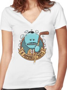 A Meeseeks Obeys Women's Fitted V-Neck T-Shirt