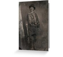 Vintage Billy the Kid Old West Outlaw Greeting Card