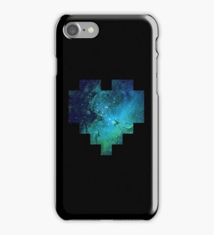 Broken Pixel - Galaxy Pixel Heart iPhone Case/Skin