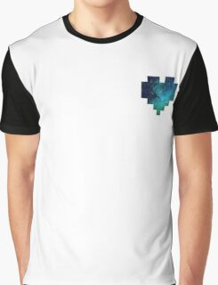 Broken Pixel - Galaxy Pixel Heart Graphic T-Shirt