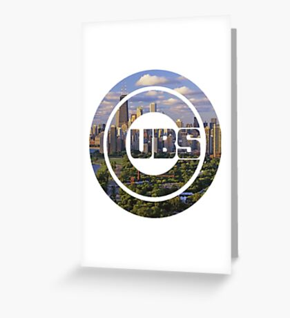 Chicago Cubs Skyline Logo Greeting Card