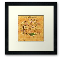 Fantasy Map of the Northlands Framed Print