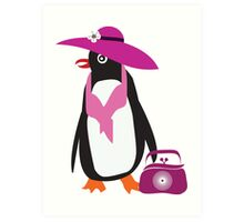 lady penguin Art Print