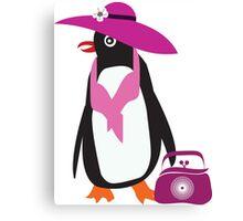 lady penguin Canvas Print