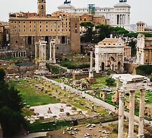 Forum Romanum Vertical by PatiDesigns