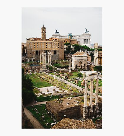Forum Romanum Vertical Photographic Print