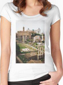 Forum Romanum Vertical Women's Fitted Scoop T-Shirt