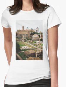 Forum Romanum Vertical Womens Fitted T-Shirt