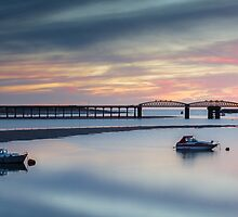 Barmouth Bridge at Sunset  by Heidi Stewart