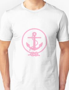 Pink Nautical Anchor and Line Unisex T-Shirt
