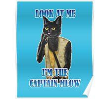 I'm The Captain Meow Poster