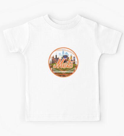 New York Mets Stadium Logo Kids Tee